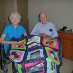 Aunt June & Uncle Tommy with Quilt